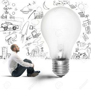 22384730-Konzept-der-neuen-Idee-eines-Gesch-ftsmannes-Lizenzfreie-Bilder